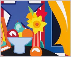 Tom Wesselmann, 'Still Life with Blowing Curtain' Screenprint in colours, 1999.