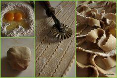Smaczna Pyza: Makaron gryczany domowy, z truskawkami