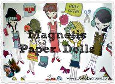 Magnetic Paper Dolls!  ***Skooks' Playground***: Paper Dolls on Parade