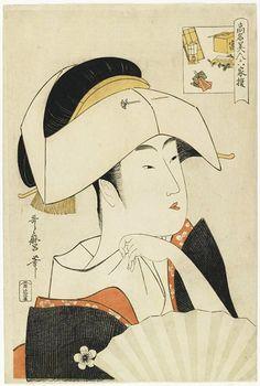 歌麿画 高名美人六家撰 富本豊雛 大判 寛政7-8年頃