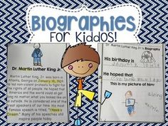 This packet was developed to introduce your young learners to biographies!Included are 6 biographies and a response sheet for each, a coloring sheet of all the people, an anchor chart, and a blank biography sheet to use for anyone you choose to teach about. keywords: biographies, primary, elementary , black history, presidents, women's history