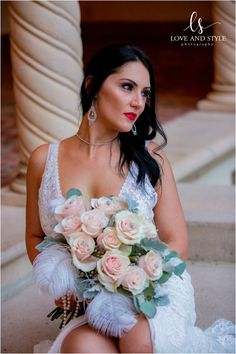 A beautiful bridal portrait with her bouquet of blush roses at this Gatsby themed wedding. Family Photography, Fashion Photography, Wedding Photography, Blush Roses, Bridal Portraits, Gatsby, Family Portraits, Bouquet, Beautiful