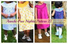 Sew nightie children tutorial epattern free