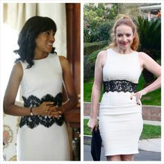 Hello Giggles - Scandal - DIY - white and black lace dress