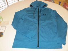Under Armour ColdGear loose L 1284501 teal 779 zip up jacket hoody hoodie Mens #UnderArmour #hoodie