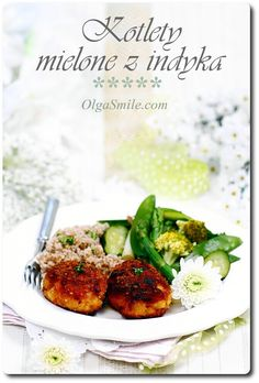 Kotlety mielone z indyka Turkey Meatballs, Tandoori Chicken, Salmon Burgers, Poultry, Potato Salad, Mashed Potatoes, Good Food, Cooking Recipes, Dinner