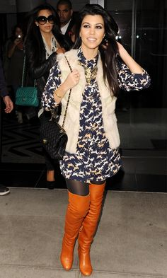 Kourtney Kardashian out in New York, 2012