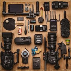 Gear = Inspiration  A little bit of everything   Photo by @smallhd