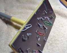 Magnet mop - an easy Swiffer hack that would make picking up spilled pins, screws, paperclips etc. a breeze