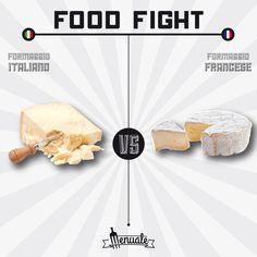 Formaggio italiano vs Formaggio francese