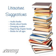 Find book and audio book literature suggestions  for your emerging reader, beginning to read chapter books reader, and readers of all ages.