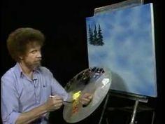 Bob Ross Fák festése 1 - YouTube