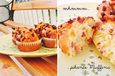 pikante Muffins | muffins with orion and bacon