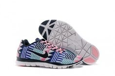 UK Sale Nike Free Trainer 5.0 Women Pink Blue Shoes | Beats By Dre - Cheap…
