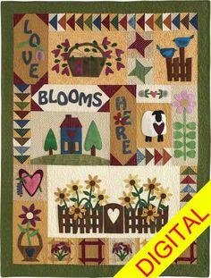 Love Blooms Here Digital Pattern