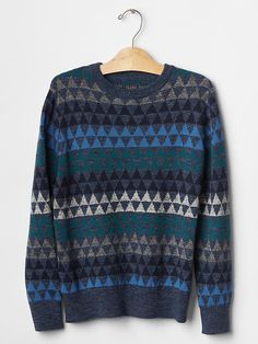 Geometric fair isle sweater