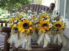 Image result for ribbon button jar centrepieces
