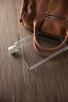 Memo Bottle: Slim Paper-Shaped Water Canteen for Laptop Bags