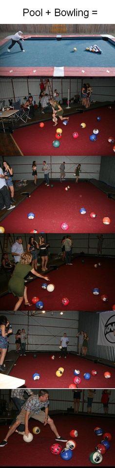 New Backyard Game - Pool + Bowling