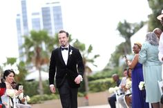 {   A MIAMI BEACH WEDDING AT BRIZA ON THE BAY BY NATE VEAL PHOTOGRAPHY    }  ''Tanesha & Jay met in a professional capacity the two eventually stroked up a conversation which eventually led to a date. They were married at Briza on the Bay in Miami overlooking Briscayne Bay and having awesome views of the Miami skyline. We love the ivory and black color combo, especially the all black bridesmaid dresses.''