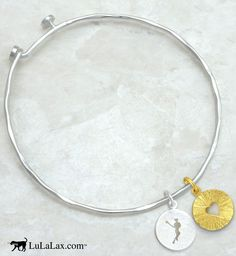 This adjustable bangle is the perfect accessory for any #laxgirl!