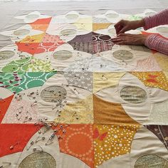 Maria's lovely #meadowquilt at #quiltsunday