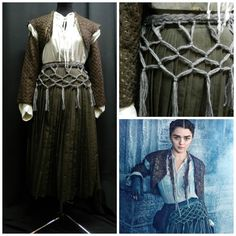Game of Thrones Arya Stark costume/ dress custom by Crinolines