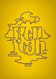 Typeography + awesome use of positive and negative space