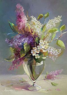 PEONY — Paintings by artist artist Ekaterina neshkova