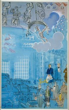 Instead, there is La Fee Electricite, one of the largest frescoes ever created on  commission from the Paris Electric Company to illustrate the 'House of Electricity' for the Paris International Exposition of 1937.