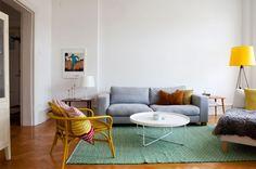 tæppe grønt stue