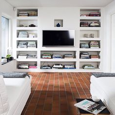Te gusta este Family Room y Biblioteca juntos? Inspírate con Gogetit!  Do you like this Family Room and bookshelf together? Get inspired with Gogetit!