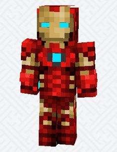 New Skin Minecraft Baixar Ideas Iron Man Minecraft Skin, Minecraft Iron, Minecraft Skins, Minecraft Houses, Acne Spot Treatment Diy, Skin Mine, Honey For Acne, Clear Mask, Iron Man Suit