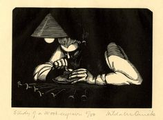 Hilda Quick: Study of a wood-engraver