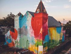 """Artist Alex """"Hense"""" Brewer transformed this abandoned church in Washington, D.C. into a stunning work of art. What is something you may have forgotten about but you could now see it with a different perspective?"""