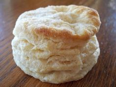 Seriously THE BEST homemade biscuit recipe I've found! I cut the recipe down to 1/4 of the original recipe and they were amazing!! I also melted the butter on top of the biscuits rather than cutting them open...1/4 recipe made 6 large biscuits and 1 small...Thanks Today's My Best Creative Day: Best Homemade Biscuits Ever!