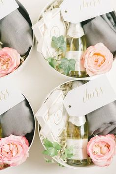 Washington, DC-based Marigold & Grey allows brides, grooms and wedding planners to design their own artisan wedding welcome gifts. Also offering custom gift Wedding Welcome Gifts, Diy Wedding Gifts, Wedding Favors, Wedding Souvenir, Wedding Cake, Wedding Ideas, Bridesmaid Proposal, Bridesmaid Gifts, Bridesmaids
