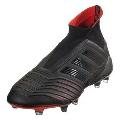 big sale a2fdc faf34 adidas Predator 19+ FG Soccer Cleat Core BlackCore BlackActive Red-6.5