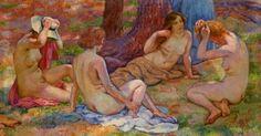Théo Van Rysselberghe Four bathers