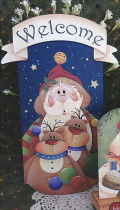 View more images from Mini Seasons Vol 6 Christmas Canvas, Christmas Paintings, Christmas Wood, Country Christmas, Christmas Signs, Christmas Pictures, Christmas Crafts, Christmas Decorations, Santa Crafts