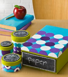 Classroom Organization -- Chalkboard Storage Container | Paper Organization