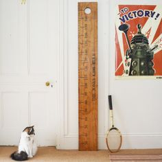 Personalised giant ruler height chart | hardtofind.