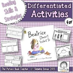 Skills & Strategy Pack inspired by Beatrice Doesn't Want To by Laura Numeroff