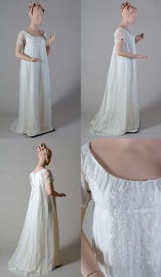 Kent State University Museum: 19th Century Gallery features this breathtaking 1800's white muslin gown.