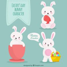 easter bunny pattern free vector - Cerca con Google