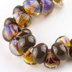 10 Teardrop Handmade Lampwork Beads Chocolate by TheIndigoRaven
