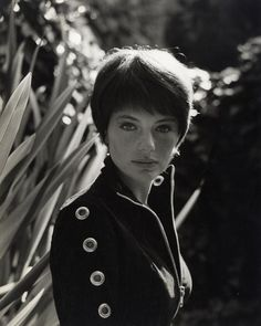 Jacqueline Bisset, 1965.    The jacket.  The hair.  Her face.  Makes me wanna cut my hair like this.