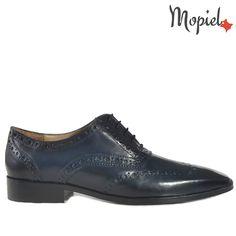 Pantofi barbati, din piele 13701/Albastru/Frank Men Dress, Dress Shoes, Oxford Shoes, Lace Up, Casual, Fashion, Moda, Oxford Shoe, Fasion