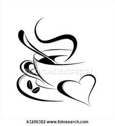 Coffee Heart Clip Art