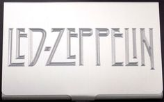 Led Zeppelin Music Group Engraved Business Credit ID Card Holder Gift BUS-0141